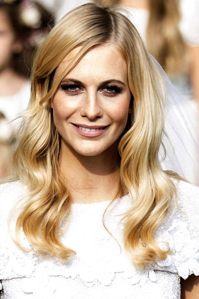 Poppy Delevingne's Blonde Balayage hair color