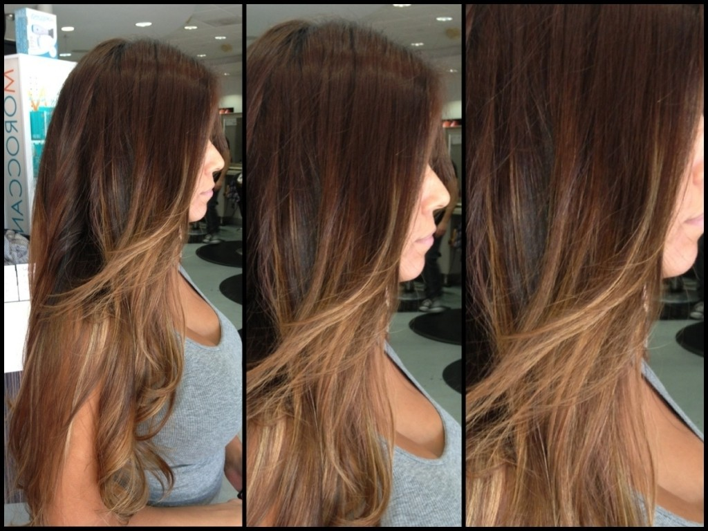 Chocolate Ombre Hair Color