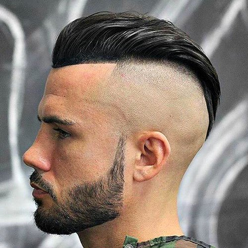 High Skin Fade with Pompadour