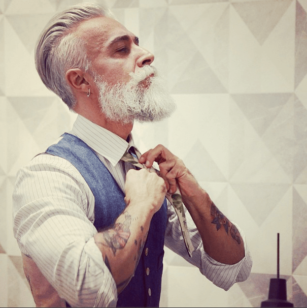 hairstyles for men with gray hair