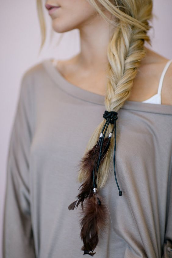 Feathered Hair Accessory