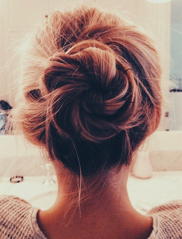 hairstyles-for-deep-thick-hair-Low-messy-bun