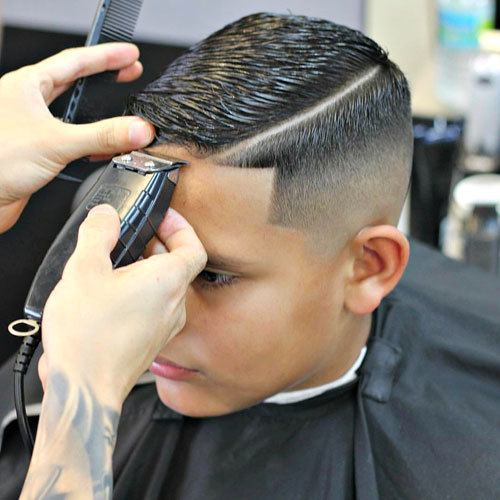 hard part comb hairstyle