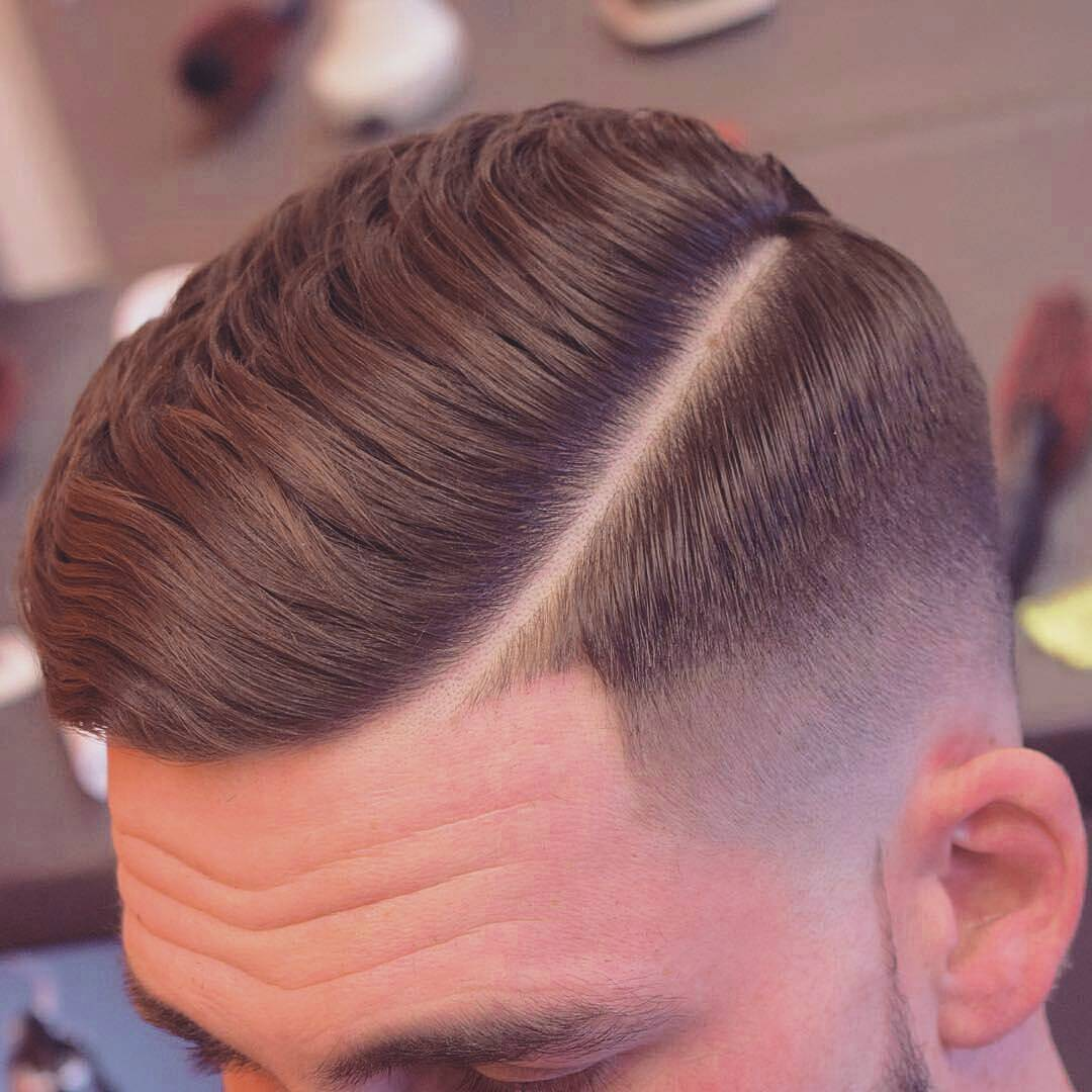 hard part hairstyle