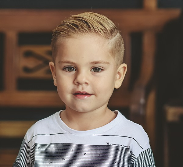 adorable boy new haircut